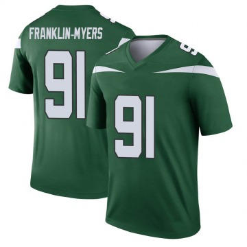Youth Nike New York Jets John Franklin-Myers Gotham Green Player Jersey - Legend
