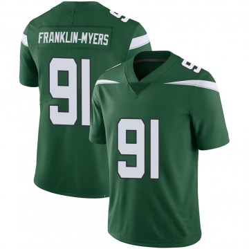 Youth Nike New York Jets John Franklin-Myers Green 100th Vapor Jersey - Limited