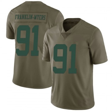 Youth Nike New York Jets John Franklin-Myers Green 2017 Salute to Service Jersey - Limited