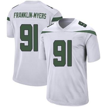 Youth Nike New York Jets John Franklin-Myers Spotlight White Jersey - Game