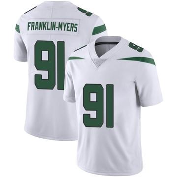 Youth Nike New York Jets John Franklin-Myers Spotlight White Vapor Jersey - Limited