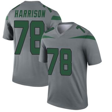 Youth Nike New York Jets Jonotthan Harrison Gray Inverted Jersey - Legend