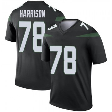 Youth Nike New York Jets Jonotthan Harrison Stealth Black Color Rush Jersey - Legend