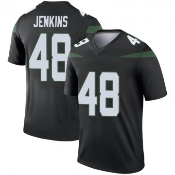 Youth Nike New York Jets Jordan Jenkins Stealth Black Color Rush Jersey - Legend