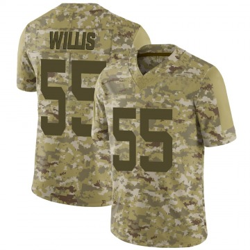 Youth Nike New York Jets Jordan Willis Camo 2018 Salute to Service Jersey - Limited