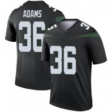 Youth Nike New York Jets Josh Adams Stealth Black Color Rush Jersey - Legend
