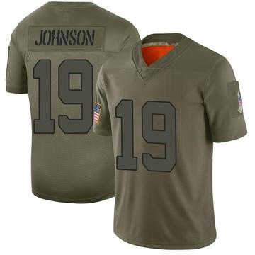 Youth Nike New York Jets Keyshawn Johnson Camo 2019 Salute to Service Jersey - Limited