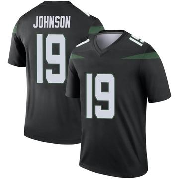 Youth Nike New York Jets Keyshawn Johnson Stealth Black Color Rush Jersey - Legend