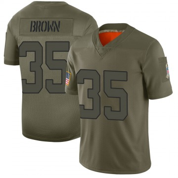 Youth Nike New York Jets Kyron Brown Brown Camo 2019 Salute to Service Jersey - Limited
