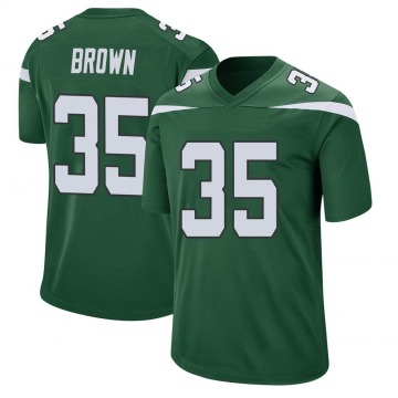 Youth Nike New York Jets Kyron Brown Gotham Green Jersey - Game