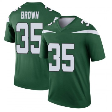 Youth Nike New York Jets Kyron Brown Gotham Green Player Jersey - Legend