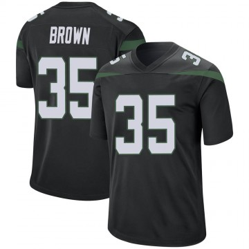 Youth Nike New York Jets Kyron Brown Stealth Black Jersey - Game