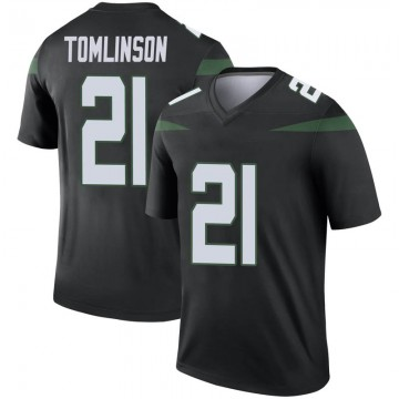 Youth Nike New York Jets LaDainian Tomlinson Stealth Black Color Rush Jersey - Legend