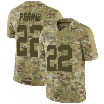 Youth Nike New York Jets La'Mical Perine Camo 2018 Salute to Service Jersey - Limited