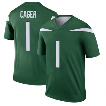 Youth Nike New York Jets Lawrence Cager Gotham Green Player Jersey - Legend