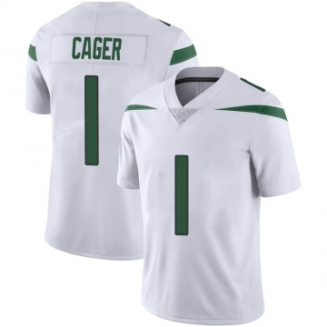 Youth Nike New York Jets Lawrence Cager Spotlight White Vapor Jersey - Limited