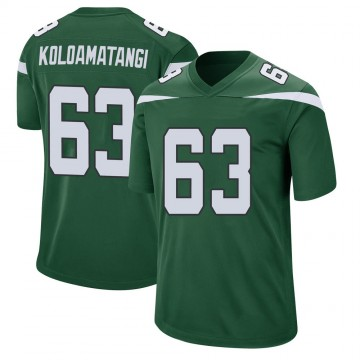 Youth Nike New York Jets Leo Koloamatangi Gotham Green Jersey - Game