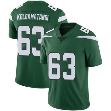 Youth Nike New York Jets Leo Koloamatangi Green 100th Vapor Jersey - Limited