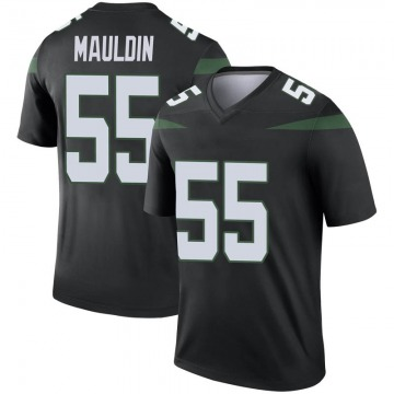 Youth Nike New York Jets Lorenzo Mauldin Stealth Black Color Rush Jersey - Legend