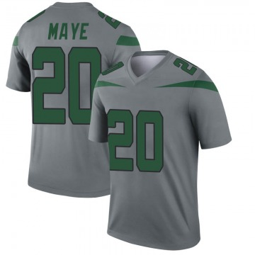 Youth Nike New York Jets Marcus Maye Gray Inverted Jersey - Legend