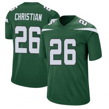 Youth Nike New York Jets Marqui Christian Gotham Green Jersey - Game
