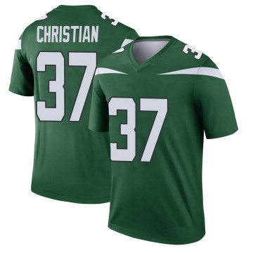 Youth Nike New York Jets Marqui Christian Gotham Green Player Jersey - Legend