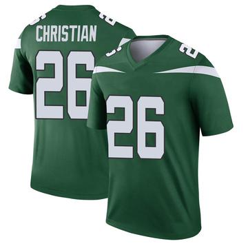 Youth Nike New York Jets Marqui Christian Gotham Green Player Jersey - Legend