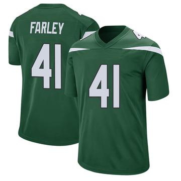 Youth Nike New York Jets Matthias Farley Gotham Green Jersey - Game