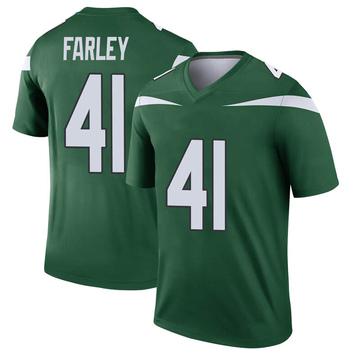 Youth Nike New York Jets Matthias Farley Gotham Green Player Jersey - Legend