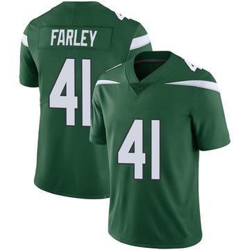 Youth Nike New York Jets Matthias Farley Green 100th Vapor Jersey - Limited
