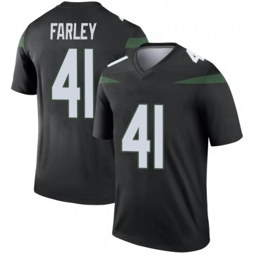 Youth Nike New York Jets Matthias Farley Stealth Black Color Rush Jersey - Legend