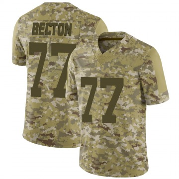 Youth Nike New York Jets Mekhi Becton Camo 2018 Salute to Service Jersey - Limited