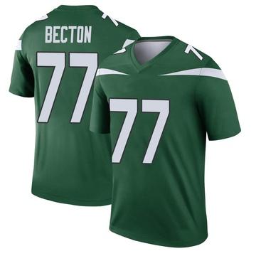 Youth Nike New York Jets Mekhi Becton Gotham Green Player Jersey - Legend