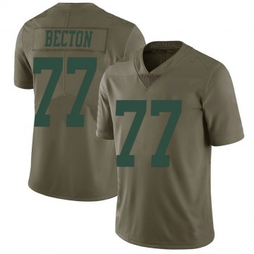 Youth Nike New York Jets Mekhi Becton Green 2017 Salute to Service Jersey - Limited