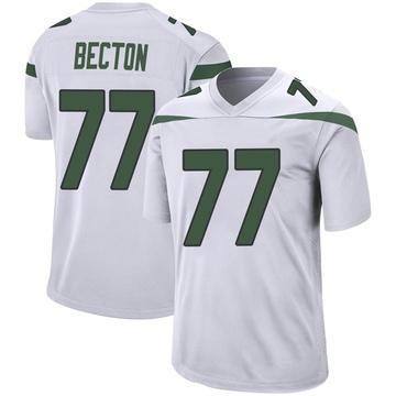 Youth Nike New York Jets Mekhi Becton Spotlight White Jersey - Game