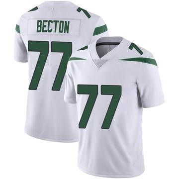 Youth Nike New York Jets Mekhi Becton Spotlight White Vapor Jersey - Limited