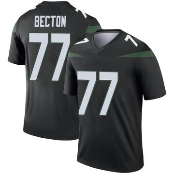 Youth Nike New York Jets Mekhi Becton Stealth Black Color Rush Jersey - Legend