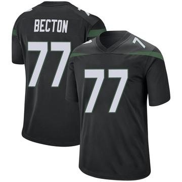 Youth Nike New York Jets Mekhi Becton Stealth Black Jersey - Game