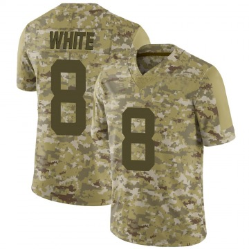 Youth Nike New York Jets Mike White White Camo 2018 Salute to Service Jersey - Limited