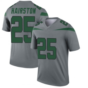 Youth Nike New York Jets Nate Hairston Gray Inverted Jersey - Legend