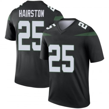 Youth Nike New York Jets Nate Hairston Stealth Black Color Rush Jersey - Legend