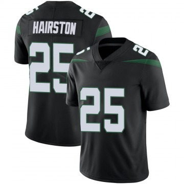 Youth Nike New York Jets Nate Hairston Stealth Black Vapor Jersey - Limited