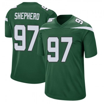 Youth Nike New York Jets Nathan Shepherd Gotham Green Jersey - Game