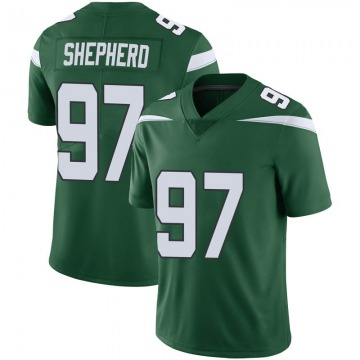 Youth Nike New York Jets Nathan Shepherd Gotham Green Vapor Jersey - Limited