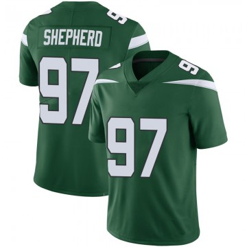 Youth Nike New York Jets Nathan Shepherd Green 100th Vapor Jersey - Limited