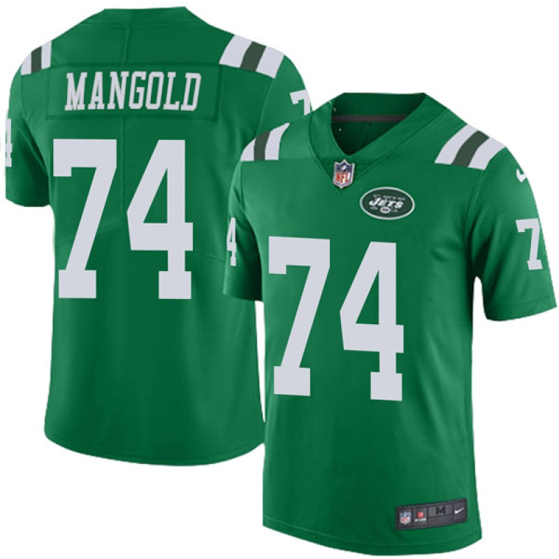 best cheap dd278 7a77d Youth Nike New York Jets Nick Mangold Green Color Rush Jersey - Limited