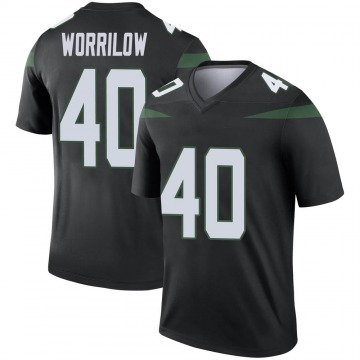 Youth Nike New York Jets Paul Worrilow Stealth Black Color Rush Jersey - Legend