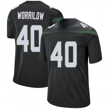Youth Nike New York Jets Paul Worrilow Stealth Black Jersey - Game