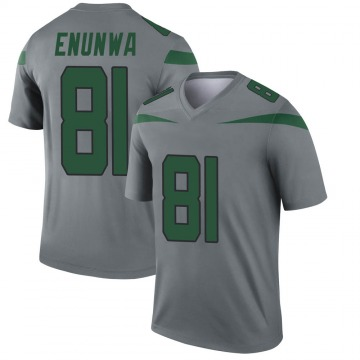 Youth Nike New York Jets Quincy Enunwa Gray Inverted Jersey - Legend