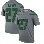 Youth Nike New York Jets Quincy Wilson Gray Inverted Jersey - Legend